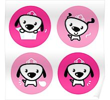 Little dog pink Princess collection Poster
