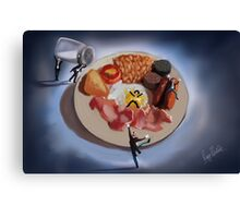 There's a butler in my breakfast  Canvas Print