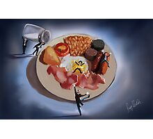 There's a butler in my breakfast  Photographic Print