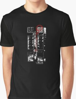Smile! You're at 221B - red, gritty Graphic T-Shirt