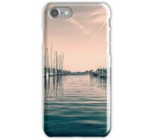 sailing ships in the harbor iPhone Case/Skin