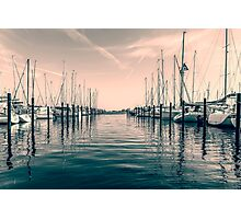sailing ships in the harbor Photographic Print