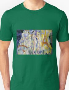 Robert Delaunay - La Ville De Paris. Abstract painting: abstraction, geometric, Nude Woman, composition, lines, forms, creative fusion, music, kaleidoscope, illusion, fantasy future Unisex T-Shirt