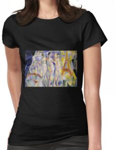 Robert Delaunay - La Ville De Paris. Abstract painting: abstraction, geometric, Nude Woman, composition, lines, forms, creative fusion, music, kaleidoscope, illusion, fantasy future Womens Fitted T-Shirt