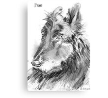 Fran - Not just any dog. Canvas Print