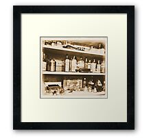 Antique Bottles Framed Print