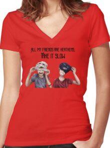 Twenty One Pilots Heathens Women's Fitted V-Neck T-Shirt