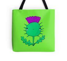 Kawaii Cute Wee Scottish Thistle Tote Bag