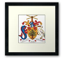 Barbados Coat of Arms If you like, please purchase, try a cell phone cover thanks Framed Print