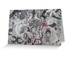 Explosion of Macabre  Greeting Card