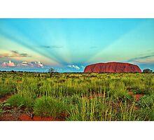 Uluru - Ayers Rock Sunset Photographic Print