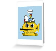 Snoopy Zissou Greeting Card