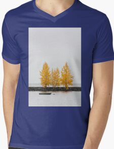 Trees in autumn color Mens V-Neck T-Shirt