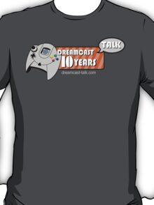 Dreamcast Talk 10th Anniversary Blue Swirl T-Shirt