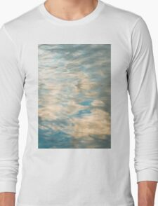 Blue sky reflections in a lake  Long Sleeve T-Shirt