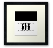 abstract - black and white Framed Print