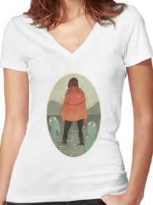 Spirits of the Lake Women's Fitted V-Neck T-Shirt