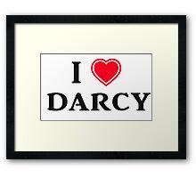 I love Darcy Framed Print