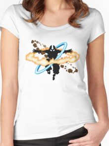 Aang going into uber Avatar state Women's Fitted Scoop T-Shirt