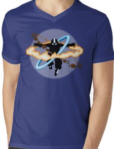 Aang going into uber Avatar state Mens V-Neck T-Shirt