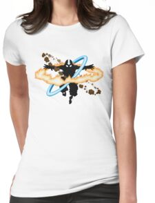 Aang going into uber Avatar state Womens Fitted T-Shirt