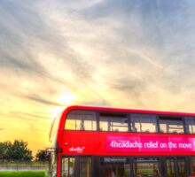 London Bus Sunset Sticker