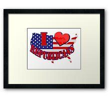 I Love Republicans Framed Print