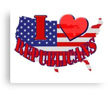 I Love Republicans Canvas Print