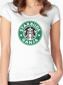 Starbuds Ganja Women's Fitted Scoop T-Shirt