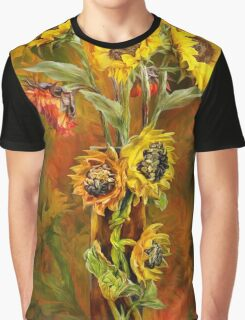Sunflowers In Sunflower Vase Graphic T-Shirt
