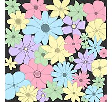 Girly Pastel Flowers Are Fun! Photographic Print