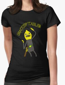 Adventure Time: Lemongrab 'Unacceptable' Womens Fitted T-Shirt