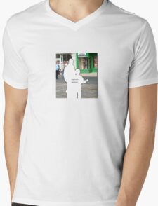 People in the Background of Photographs Mens V-Neck T-Shirt