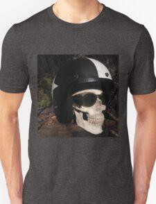 Retro Skull biker Helmet Glasses Unisex T-Shirt