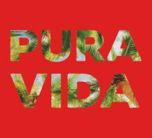Pura Vida Costa Rica Palm Trees One Piece - Long Sleeve