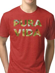 Pura Vida Costa Rica Palm Trees Tri-blend T-Shirt