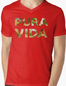 Pura Vida Costa Rica Palm Trees Mens V-Neck T-Shirt