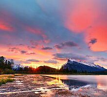 Vermilion Lakes by 3523studio