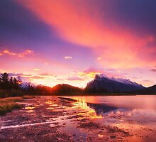 Vermillion lakes by 3523studio