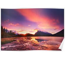 Vermillion lakes Poster