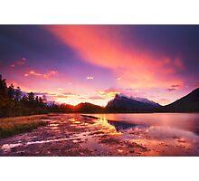Vermillion lakes Photographic Print