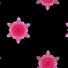 Hot Pink Snowflake Fractal by Tori Snow