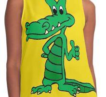 Alligator Cartoon Contrast Tank