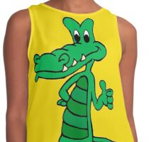 Alligator Cartoon Contrast Tank