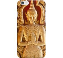 Thai style Buddha carving iPhone Case/Skin