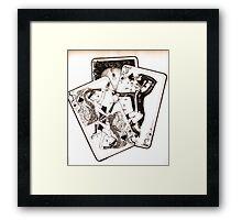 jocker and his dame Framed Print