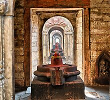 Shiva lingam of Pashupatinath temple  by 3523studio