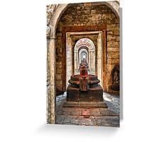 Shiva lingam of Pashupatinath temple  Greeting Card
