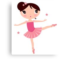 Beautiful little Ballerina girl Canvas Print