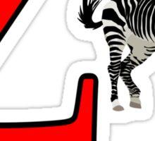 Funny Alphabet: Z is for Zebra Sticker